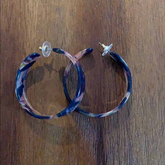 BaubleBar Jewelry - BaubleBar Multi Colored Resin Hoops